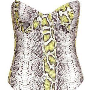 Chain Detail Snake Print Bodysuit